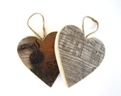1 Wood Ammo Box Heart Ornaments gifts for men / military gifts for boyfriend rustic wedding decor rustic home decor