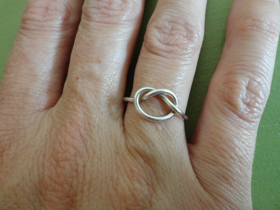 Jumbo Knot Ring in Silver