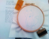 Embroidery Kit - Little fox hoop wall art