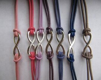 USA Seller - Infinity Charm Leather Friendship Love Single Charm Wrap Bracelet