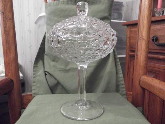 Clearance Sale-  American Fostoria 2056 pattern jam/jelly dish with cover