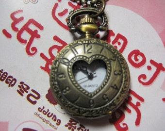 2pcs 27x27mm  Antiqued Bronze Color  Pocket  Watch Charm Pendant