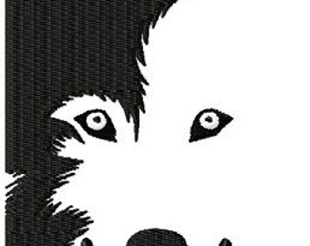 Husky - Wolf  Instant Download embroidery design - Machine Embroidery Design - Digital Design File
