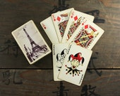 1940's Vintage Eiffel Tower Full Deck Playing Cards, Paper Ephemera, Collectibles