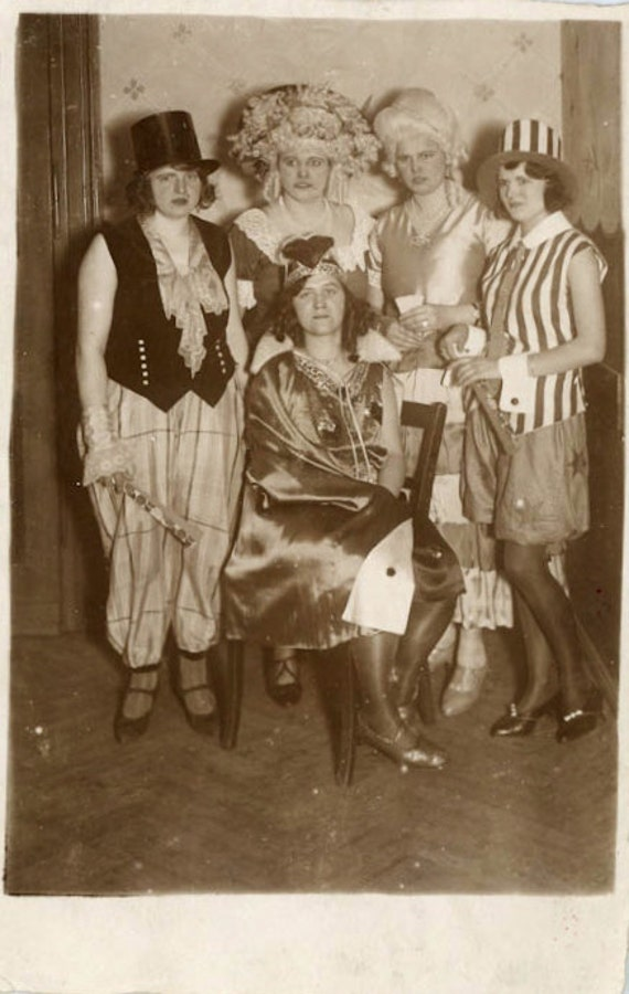 "Vintage Photo Postcard ""Costume Party"", Photography, Paper Ephemera, Snapshot, Old Photo, Collectibles - 0036"