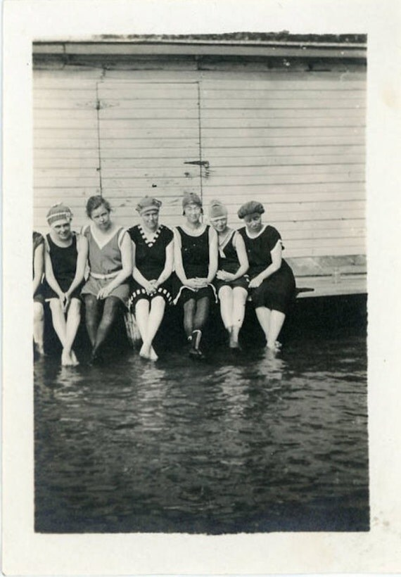 "Vintage Photo ""Ready for a Dip"", Photography, Paper Ephemera, Snapshot, Old Photo, Collectibles - 0034"