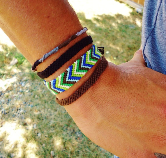 Attractive Items similar to Mens Collection of Friendship Bracelets on Etsy DH08