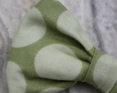 Bow tie in Green Retro Dots  - clip on, pre-tied with adjustable strap or self tying, for men and women