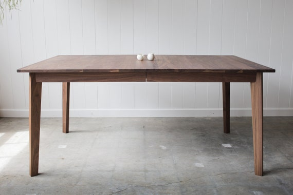 SALE - Solid Walnut Ventura Dining Table with Leaf Inserts - Seats up to 10