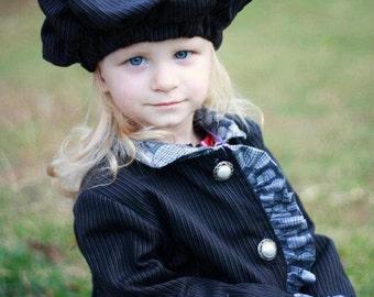 Chloe Reversible Ruffle Jacket & Cap: Girls Jacket PDF Pattern, Baby Jacket PDF  Pattern, Coat PDF Pattern