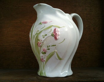 Vintage English flower milk jug pitcher creamer circa 1940's / English Shop