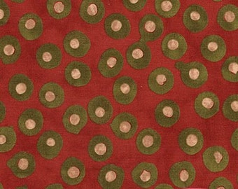 "SALE End of Bolt 1 yard 20.5"" of Simple Marks Brick Red Pebbles Modern Dots by Malka Dubrowsky for Moda"