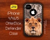 OtterBox Defender - iPhone 4 4s 5 Case - African Lion Razi