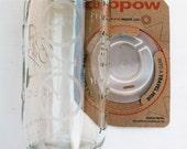 etched bicycle design mason jar w/ CUPPOW lid