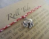 Roll Tide inspired Wish Bracelet