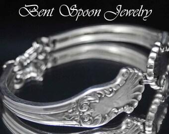 Spoon Bracelet, Silverware Jewelry, Spoon Jewelry, Wedding Bracelet, Bridal Bracelet, Bridesmaids Bracelet - 1944 Concerto