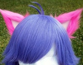 Hot Pink and Pale Pink Clip on Cat Ears
