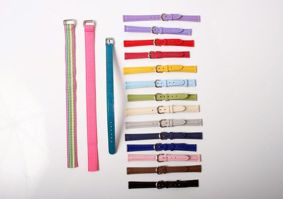 Huge Collection of Colorful Vintage Watch Bands