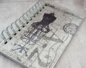 """Vintage Sewing Journal, Diary, Spiral Bound, Dressmakers Dummy, 7"""" x 3 3/4"""""""