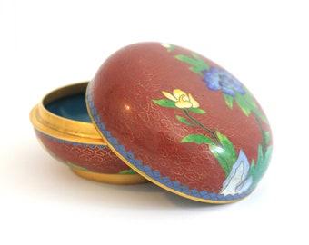Vintage Cloisonne Bowl with Lid