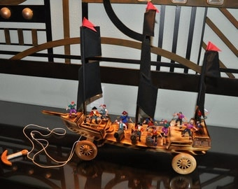 Pirate Boat Pull Toy