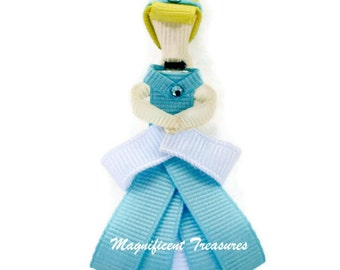 Cinderella Hair Clip Ribbon Sculpture