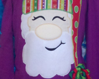 Big Nose Santa Machine Applique Design