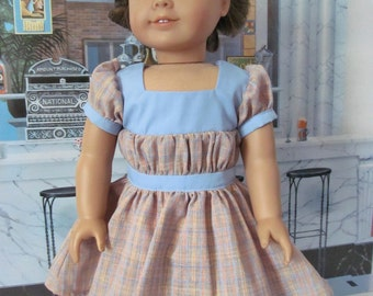 Historical Dress, Vintage Style,  1930 Dress,  18 InchDoll Clothes