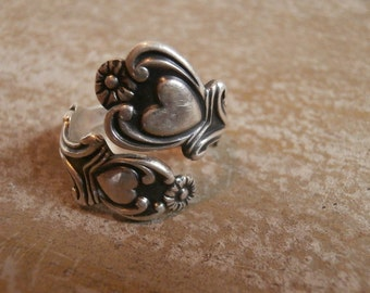 Size 6 - 7 Sterling Heart Ring