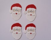 4 Santa Face Die Cuts Embellishments for Christmas Scrapbooking Cards and Paper Crafts