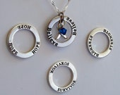 Strength- Survivor - Hope - Believe - Custom Anorexia, Bulimia, Gastric Cancer Awareness Inspirational Necklace - Sterling