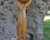 Emerging Eye, Olive wood sculpture