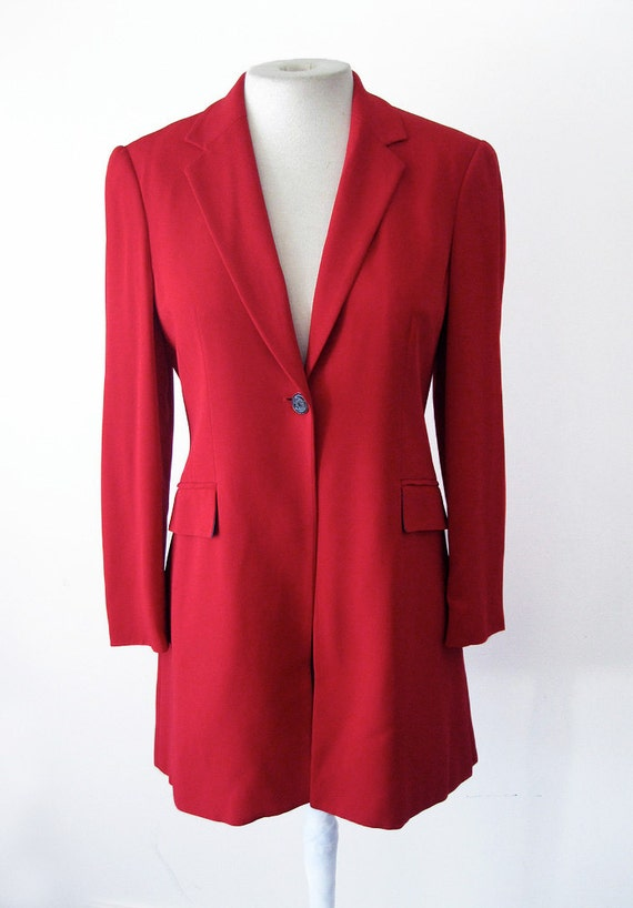 Sale - vtg MOSCHINO Red Dandy FROCK COAT - size 44