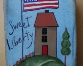 Sweet Liberty, American, Flag, Fourth of July, Patriotic, Painting