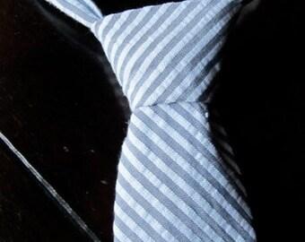 Boys Neck Tie in Seersucker fabric, Boys Neck Tie in solid colors