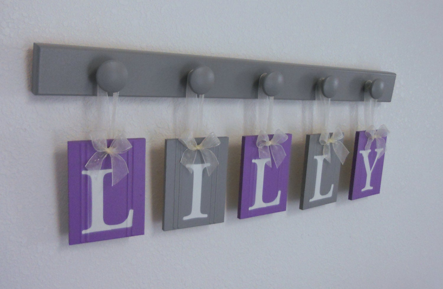 purple and gray baby girl nursery decor wall letters. Black Bedroom Furniture Sets. Home Design Ideas