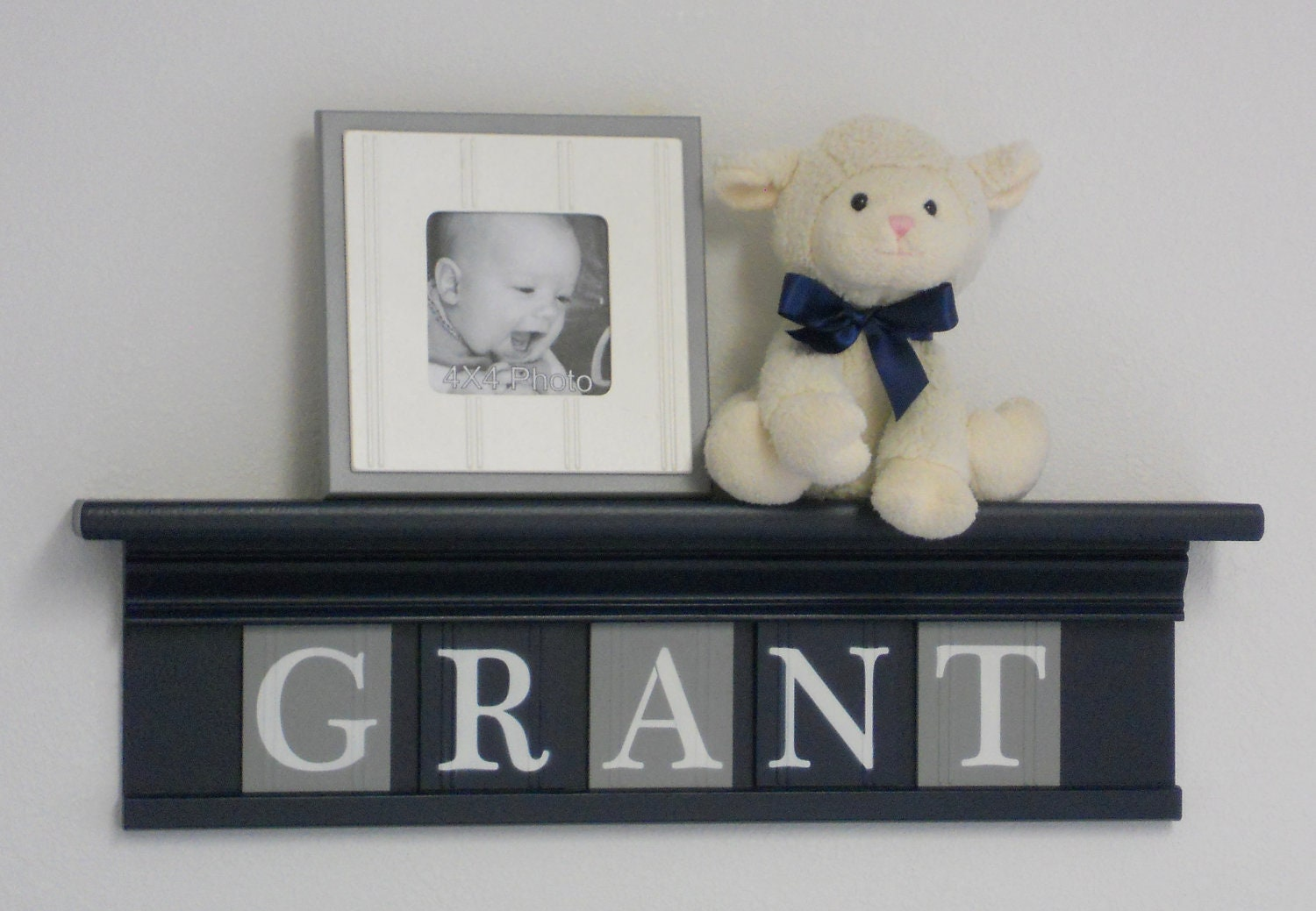 Gray And Navy Nursery Wall Decor Room Decor Personalized
