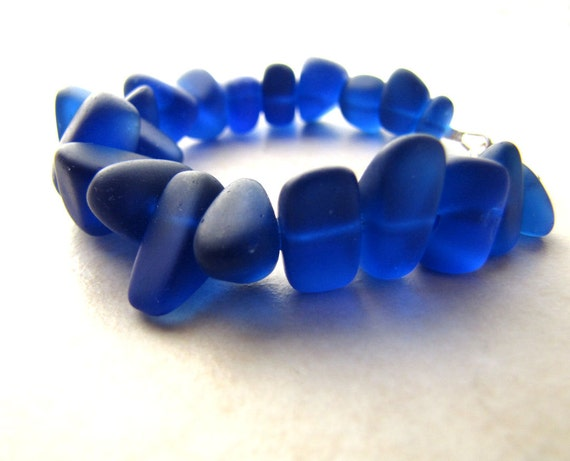Seaglass Bracelet, Sea Glass Bracelet, Beach Wedding, Something Blue, Beach Jewelry, Beach Bracelet, Ocean Bracelet, Blue Seaglass