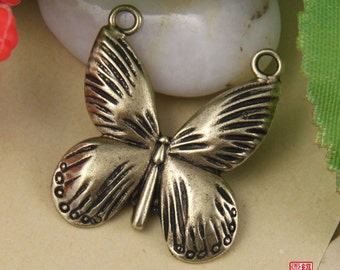 2pcs Brass Butterfly Charm