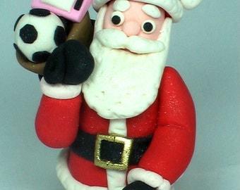 100% Edible Gum Paste Santa Claus Cake Topper Christmas