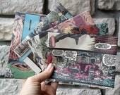 Geek Wedding Invitations / Vintage Comic Book Envelopes / Superhero Birthday Invitations - SET OF 100