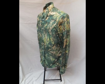 Psychedelic Green Button Down