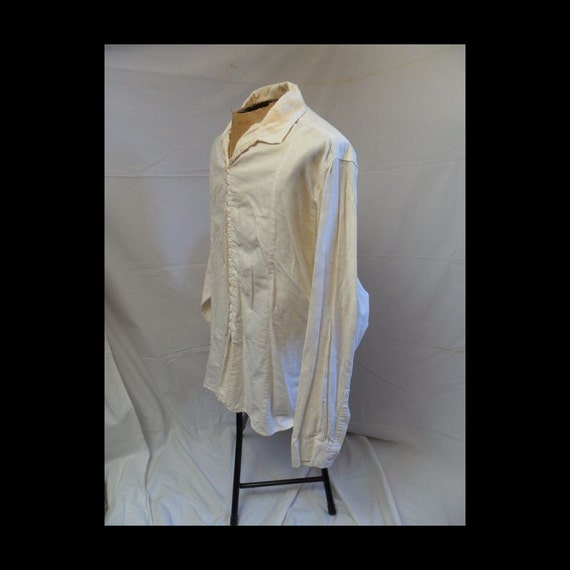 Creme Multi Button Mens Dress Shirt