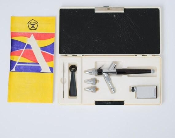 Vintage Russian Aerograph - Airbrush Kit - Soviet Union - NEVER USED - Original Box and Documentation