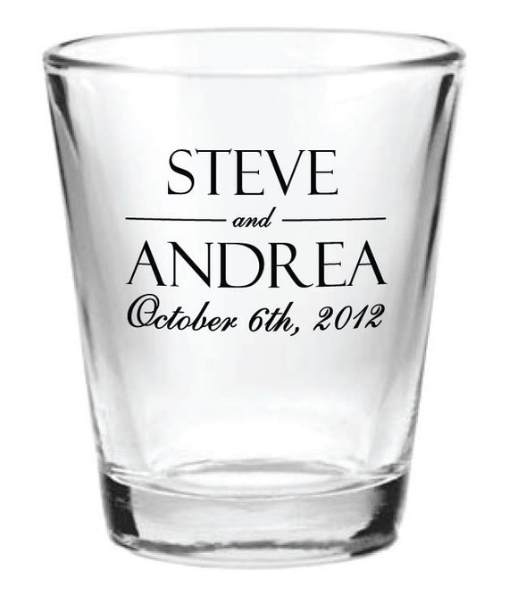 96 personalized wedding favor glass shot glasses custom wedding