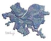 Pittsburgh Neighborhoods Art Print