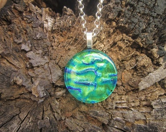 Watery Green/Blue Round Pendant