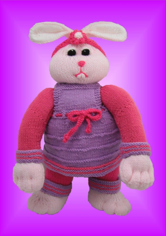 Rebecca Rabbit - a Unique and Original Toy Knitting pattern