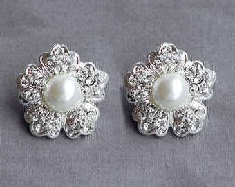 Bridal Earring Wedding Earring Rhinestone Earring Crystal Earring Pearl Earring Stud Earring Wedding Bridal Jewelry ER045LX