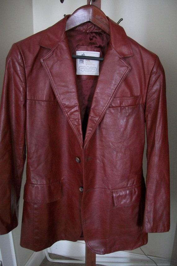 Men's  Leather Vintage London Fog Blazer Size 38 Regular